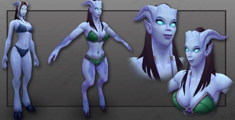 New female draenei model?