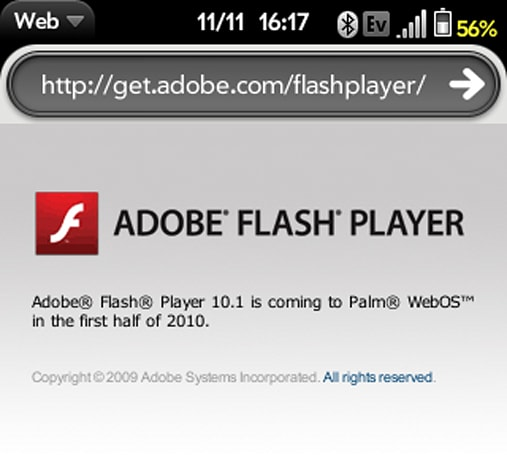 Flash 10.1 coming to webOS in first half 2010, says kinder, gentler Adobe page