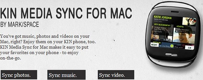 Kin Media Sync for Mac syncs Kin media with Mac