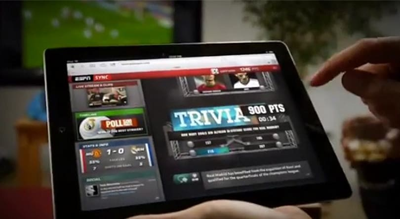 ESPN Sync brings dedicated real-time sports coverage to the second screen