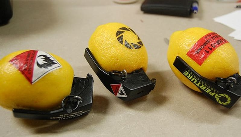 Here are your Portal 2-inspired combustible lemon hand grenades