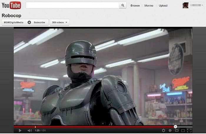 MGM delivers 600 movies to YouTube and Google Play, gives you one more place to watch Robocop