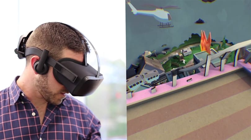 Oculus' prototype headset points to VR's wireless future