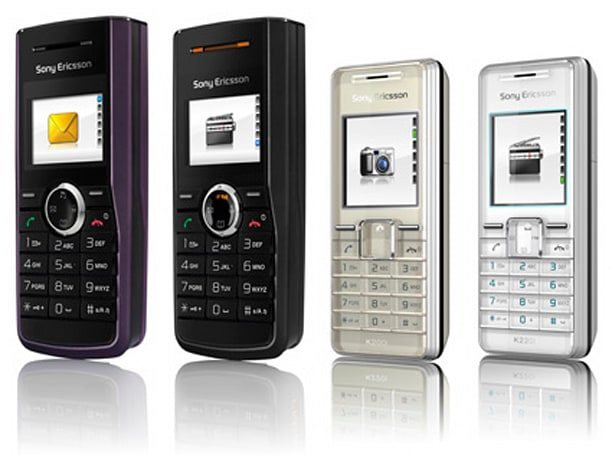 Sony Ericsson's entry level J110, J120, K200, and K220