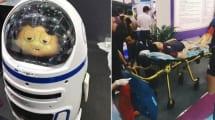Roboter Fatty verletzt Messebesucher