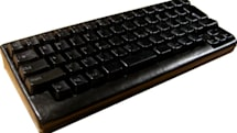Leather wrapped keyboard utters 'eat mor chiken'