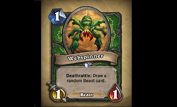 Hearthstone reveals new Webspinner card
