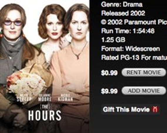 iTunes Store adds 99 cent weekly movie rental specials