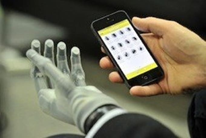 iPhone app used to control Touch Bionics prosthetic hand