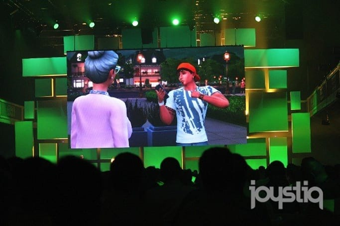 Sims 4 from the E3 floor