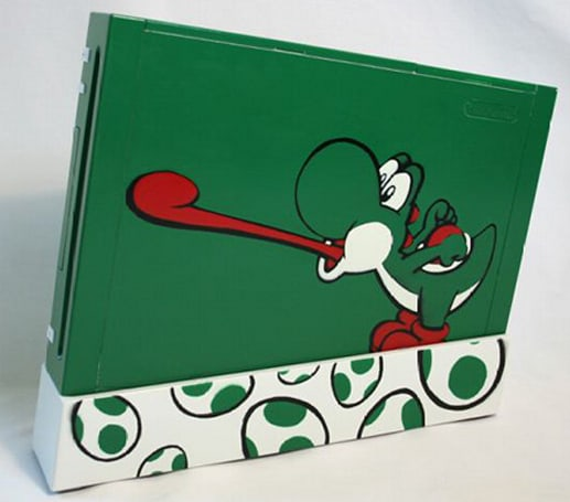 Customized Yoshi Wii console finds new home