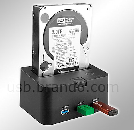 Brando's SATA HDD dock makes the obligatory leap to USB 3.0