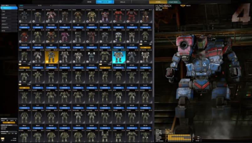 Take a peek at MechWarrior Online's UI 2.0 upgrade