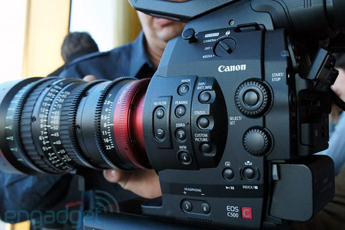 Canon Cinema EOS C500 camera hands-on (video)