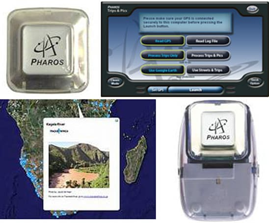 Pharos announces Trips & Pics: GPS, battery, and geocaching software