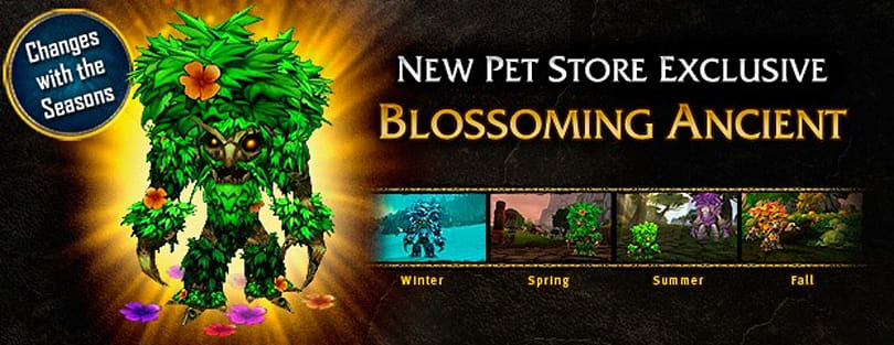 Blossoming Ancient pet added to Blizzard store