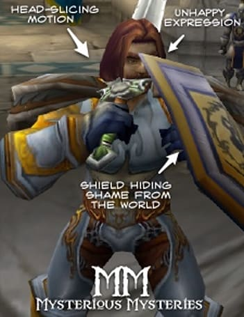 Mysterious Mysteries: Highlord Bolvar Fordragon cuts off his own head!