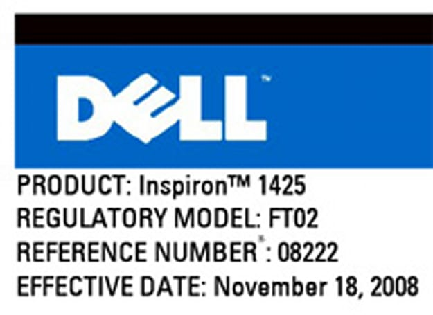 Dell's Inspiron 1425 leaked: like the 1420, but slimmer?