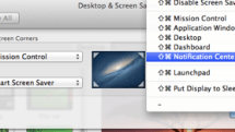 Mountain Lion 101: Notification Center in a hot corner