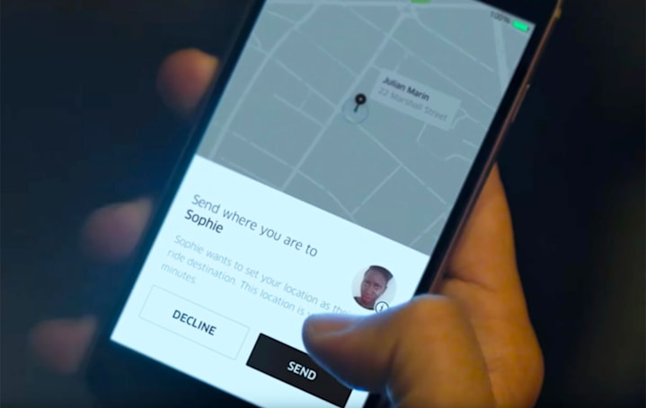 Uber turns your friends into destinations