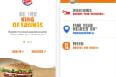 Burger King app available across the pond