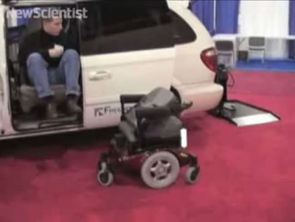 Researchers show off laser-guided wheelchair that docks with vehicles
