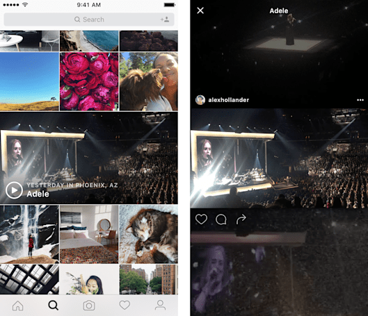 Instagram adds event video channels to the 'Explore' feed