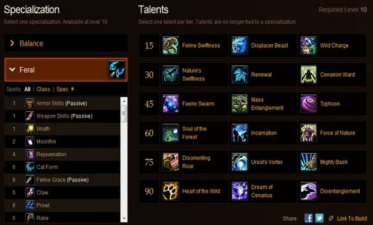 Shifting Perspectives: More on level 90 feral Mists of Pandaria talents
