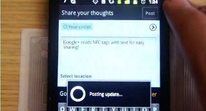Google+ sneaks NFC into its Android app, gets caught red-handed