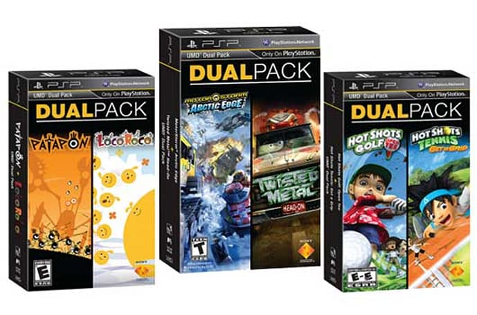 Sony debuts three new UMD Dual Packs for January