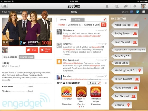 Zeebox second screen TV companion app crosses over to the US, with a boost from Comcast and HBO