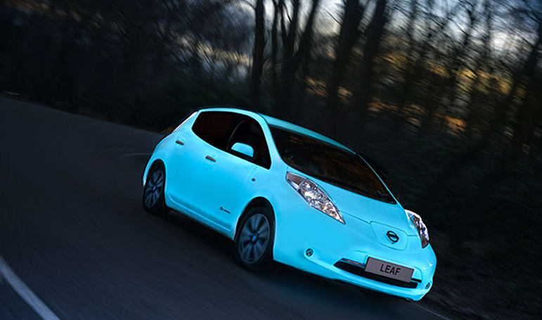 Nissan has a glow-in-the-dark Leaf EV, but you can't buy one