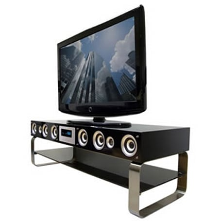 Onei Solutions TV stand cuts down on clutter, power