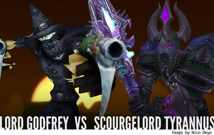Two Bosses Enter: Lord Godfrey vs. Scourgelord Tyrannus!