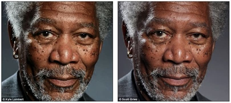 Why the Morgan Freeman finger painting is probably not fake
