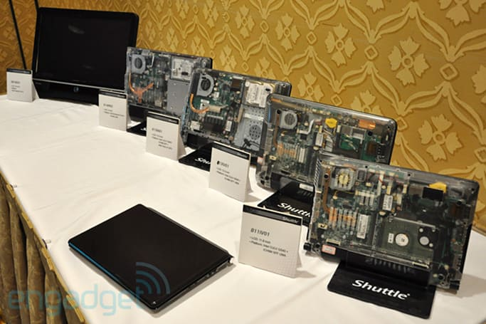Shuttle SPA and Micro SPA notebook motherboard standards launched at CES