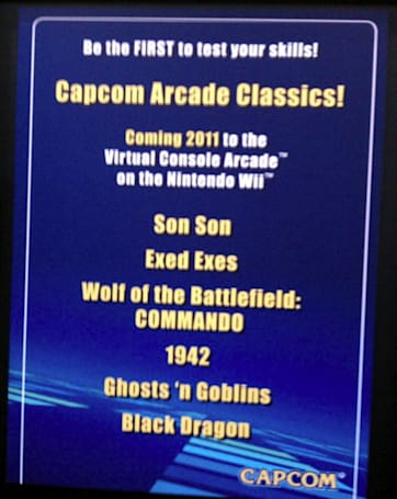 Capcom Arcade Classics confirmed for North American release in 2011
