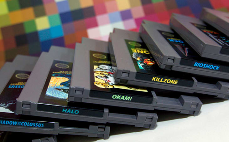 NES-cartridge art from 72 Pins makes retro games new, new games retro