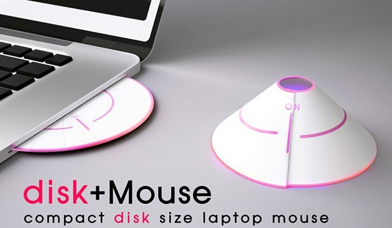 CD-shaped mouse is perfect for our physical media-free future