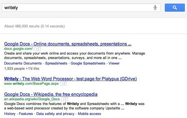 GDrive test page pops up in Google search, inches closer to an actual product