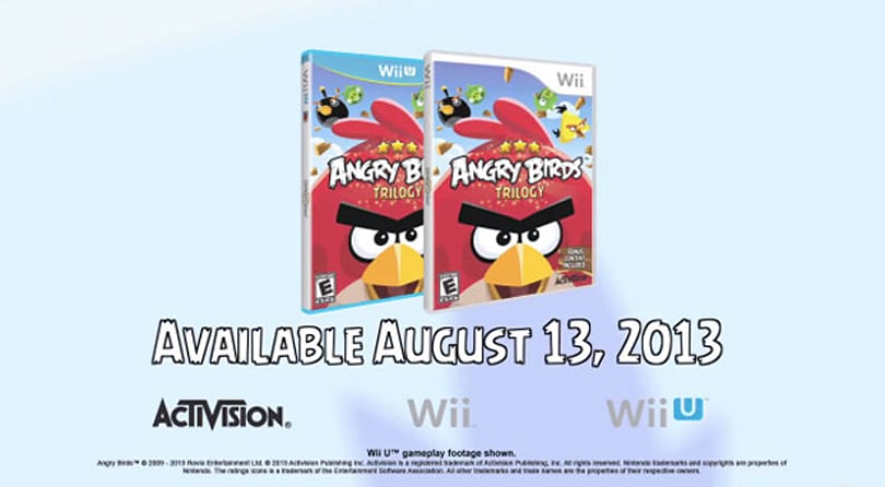 Angry Birds Trilogy slingshots to Nintendo's Wii U and Wii consoles on August 13th