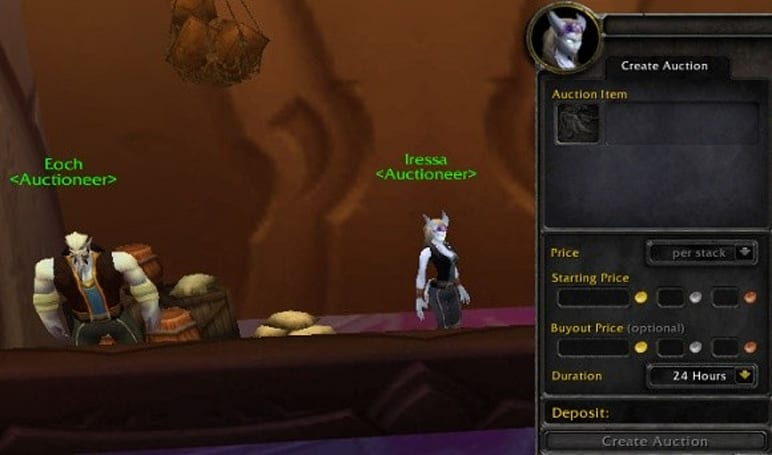 Gold Capped: Casual auctioneering