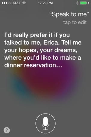 Talking to Siri: The conversationalist