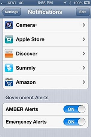 AT&T issues Wireless Emergency Alerts update to iPhone 4S, 5
