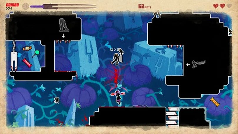 They Bleed Pixels hemorrhages price for Halloween, adds free level