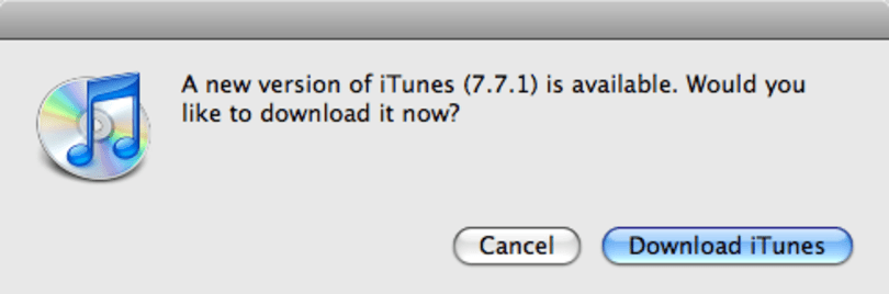 iTunes 7.7.1 is out... and then nothing