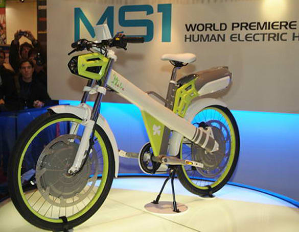 Matra shows off its human / electric-powered MS1 bike