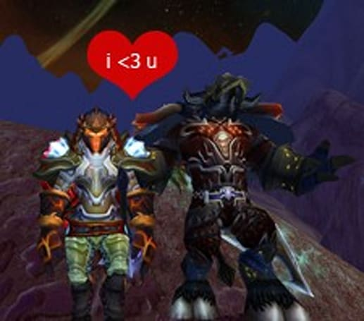 Forum post of the day: You and me against the World ... of Warcraft
