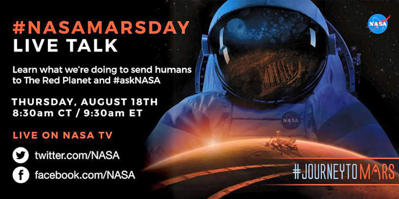NASA will answer your questions about its journey to Mars