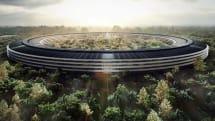 "New aerial shots show progress on Apple's ""spaceship"""